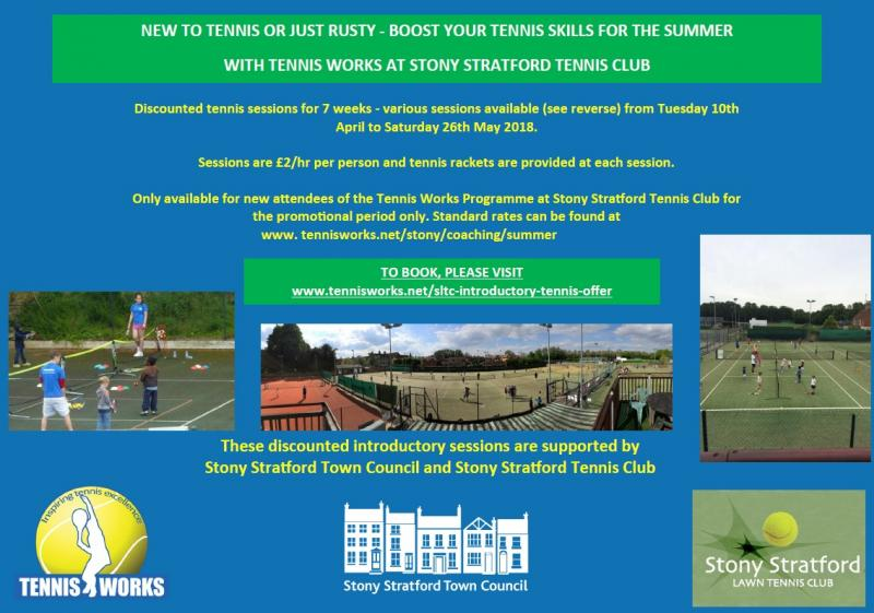 Introductory tennis lessons at Stony Stratford Tennis Club